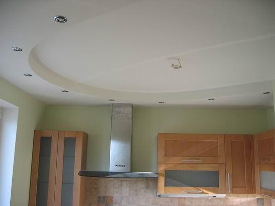 Ремонт из гипсокартона потолок кухня