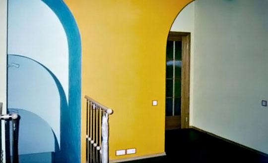 Ремонт с покраской стен фото