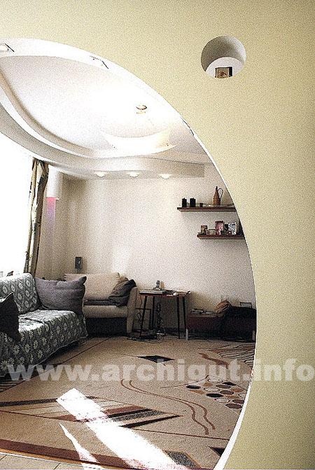 Дизайн арок между кухней и гостиной фото